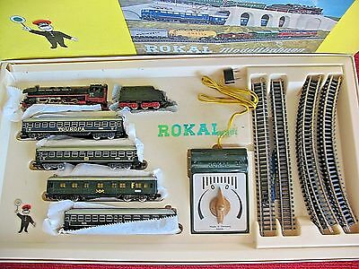 Rokaltt Scale German 1960's 01114 Touropa Dc Powered Steam Passenger Train Set