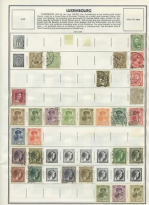 LUXEMBOURG--Accumulation of 191 stamps