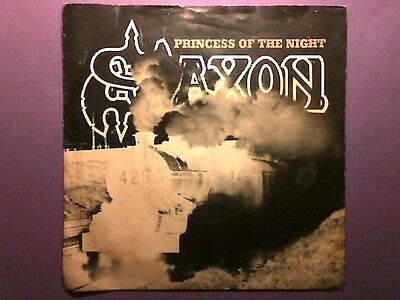 "Saxon - Princess Of The Night (7"" single) picture sleeve CAR 208"