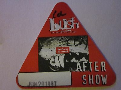Bush backstage pass 1997