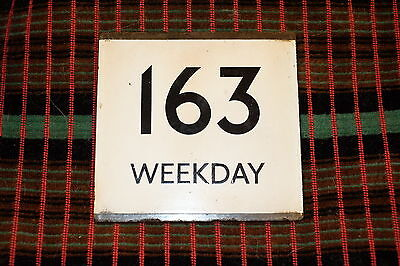 LONDON TRANSPORT BUS STOP E-PLATE for Route 163 WEEKDAY
