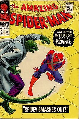 Amazing Spider-Man  #45 VG- 3.5 The Lizard 3rd app.