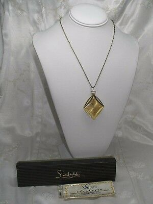 Vintage Working Hand Wind Swiss Made Sheffield Pendant Watch With Box & Papers