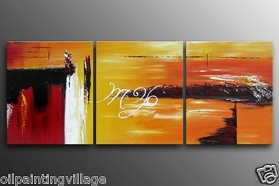 """Framed Oil Painting on canvas 60x24"""" Modern abstract home deco Ready For Hung"""