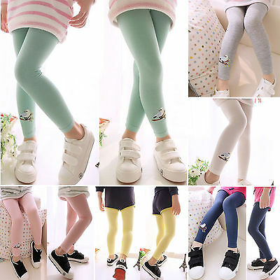 NEW Children Kids Girls Baby Cotton Pants Bird Pattern Stretch Leggings Trousers