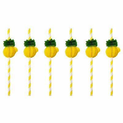 Sunnylife Pineapple Honeycomb Straws Pool Party Summer Fun Tropical Drinks New