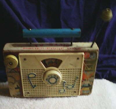 Vintage Fisher Price Little Indians Radio Collectible So Cool Look !!
