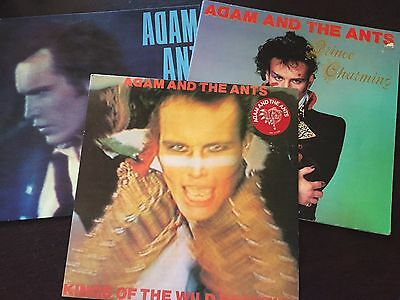 """ADAM And The ANTS Collection  - -  Bulk 12"""" Lot of 3 lp's - - Oz CBS - - VG/EXC"""