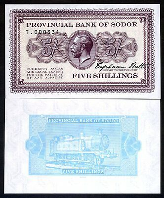 Isle of Sodor, 5 shillings, Limited Private issue, Specimen, UNC - KGV, Train