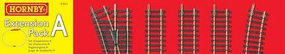 Hornby Model Railway Train Set Railroad Track Extension Pack A Rail OO Gauge NEW