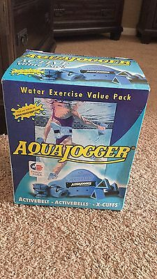 New In Box Aquajogger Water Exercise Value Pack-Activebelt Activebells  X-Cuffs