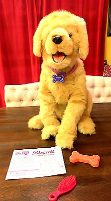 FurReal Biscut MY LOVIN' PUP Golden Retriever Dog Interactive by HASBRO NICE!!!