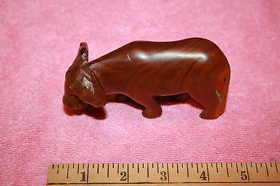Vintage Beautiful Carved Wood Smaller Water Buffalo Animal Statue