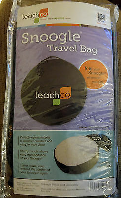 New Leachco Snoogle Pregnancy Pillow Travel Bag Black soft zipper  Free Shipping