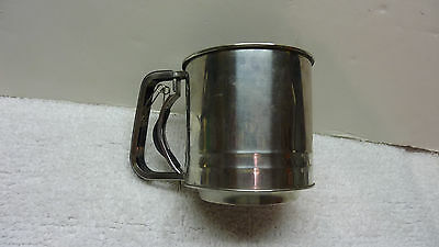 Stainless Steel 4 Cup  3X Flour Sifter