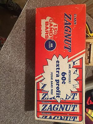 Vintage Clark Zagnut Counter Display Advertising Box Only 15 Cents