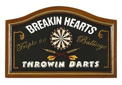 Ram R276 Wooden Breaking Hearts Pub Sign 3D Art with FREE shipping