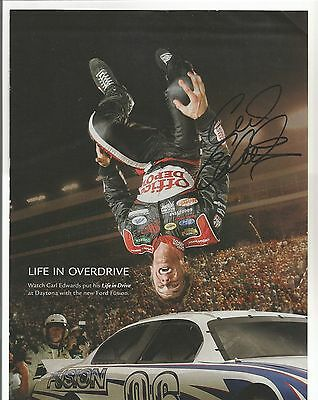Carl Edwards Autographed Sports Illustrated Page Photo