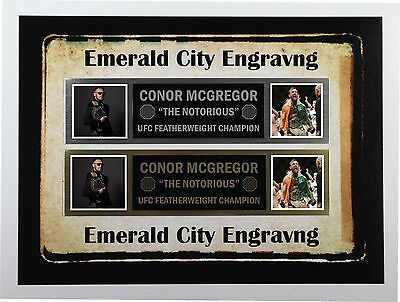 Conor Mcgregor Nameplate For Signed Photo Trunks Glove Ufc