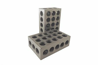 "123 Blocks Matched Pair 2 Each ULTRA PRECISION +/-.0001 HARDENED 23 3/8"" HOLES"