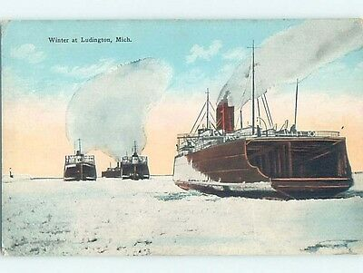 Unused Divided-Back POSTCARD FROM Ludington Michigan MI HM5625