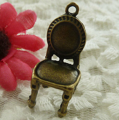 free ship 11 pieces bronze plated chair pendant 31x14mm #2042