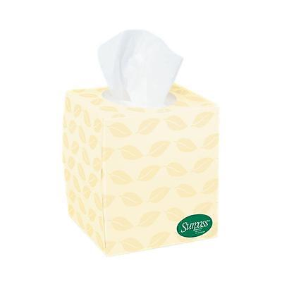 2-Ply Facial Tissue 100% Recycled, Chemical & Fragrance Free. Case of 36 Boxes