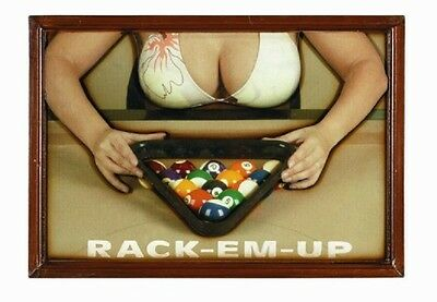 Wooden Billiard Rack-Em-Up 3D Art with FREE Shipping