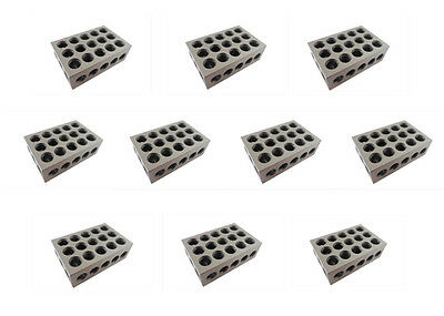 "123 Blocks Matched 10 Each ULTRA PRECISION +/-.0001 HARDENED 23 3/8"" HOLES"
