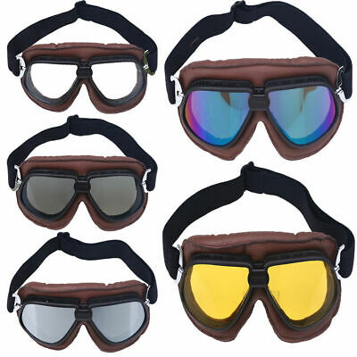 Motorcycle Helmet Goggles Glasses Eyewear for Harley Davidson Bobber Chopper