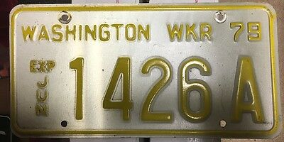 WASHINGTON 1979 WRECKER License Plate