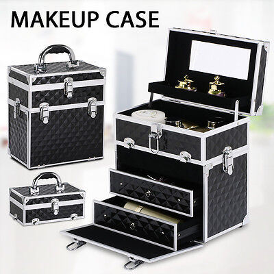 Beauty Cosmetics Makeup Case Jewellery Portable Box Easy Travel Case Organiser