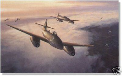 """Air Aces:Me 262 signed  """"Dolfo"""" Galland, highest class of Knight's Cross."""