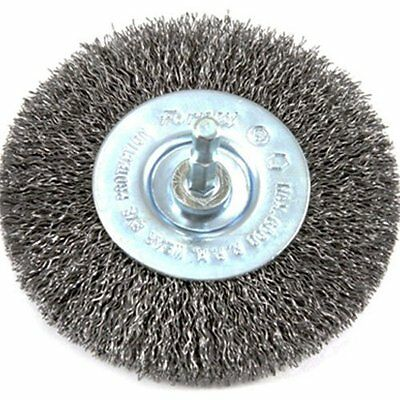 Forney 72739 Wire Wheel Brush, Coarse Crimped with 1/4-Inch Hex Shank,