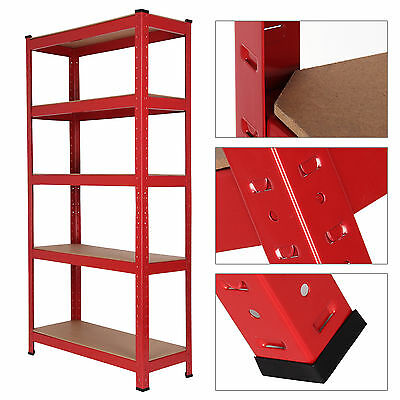 5 Tier Racking Boltless Heavy Duty Steel Shelving Storage Unit Garage Warehouse