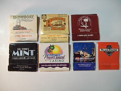 VINTAGE NEVADA CASINO MATCHBOOK LOT OF 7 Del Webbs Mint PALACE STATION HOTEL