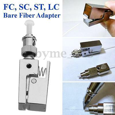 Flange Square Type ST Bare Fiber Adaptor Fit for FC SC ST LC MTRJ MPO E2000