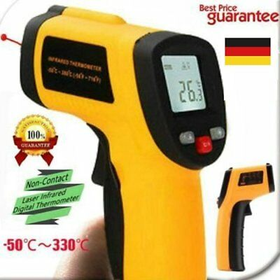 Non-Contact LCD Infrarot Thermometer Laser Pyrometer Messer -50 bis 330°C New F1
