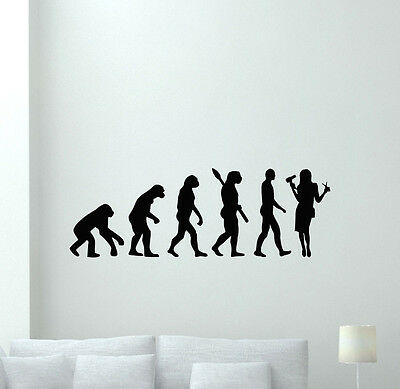 Barber Evolution Wall Decal Barbershop Hair Salon Vinyl Sticker Decor Art 145hor