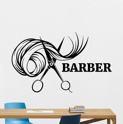 Barber Wall Decal Barbershop Vinyl Sticker Hair Salon Art Decor Mural 27bar