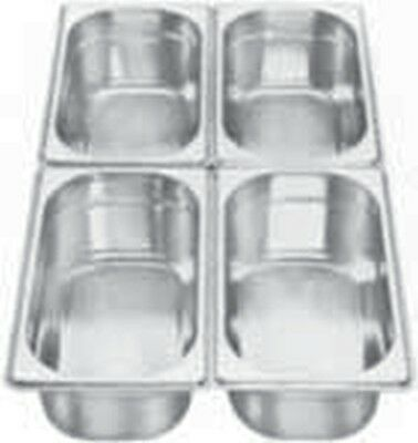 1x AG Gastronormbehälter Chafing Dish GBE 1/4 - 65 mm NEU