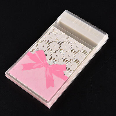 Mini flower lace Self Adhesive DIY Cookie Candy Package Gift Valve Bags 100pc AN