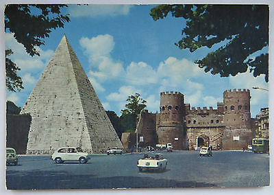 Postcard Rome Italy, Pyramid Of Caius Castis. Unposted