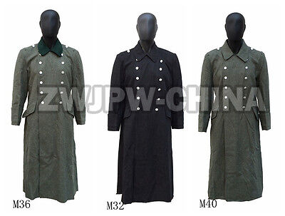 Wwii German Army Wh Ss M36 M32 M40 Wool Greatcoat Outdoor Cloak