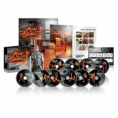 INSANITY complete set of workout DVDs by Beachbody