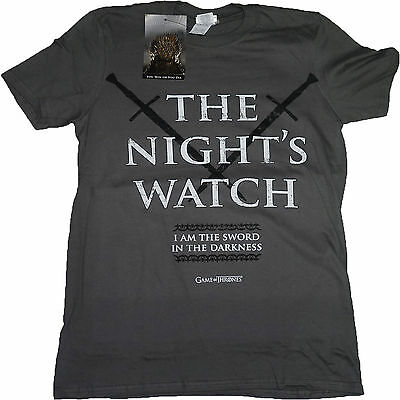 Game of Thrones The Wall Night's Watch Jon Snow OFFICIAL Charcoal T-Shirt 16B