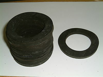 4 Rubber Washers 72.5mm O/D X 47mm I/D X 6mm Thk