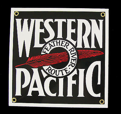 Western Pacific Railroad Porcelain Sign #57-1510