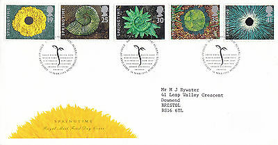 14 MARCH 1995 SPRINGTIME ROYAL MAIL FIRST DAY COVER BUREAU SHS (a)