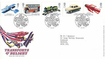 18 SEPTEMBER 2003 TRANSPORTS OF DELIGHT ROYAL MAIL FIRST DAY COVER BUREAU SHS a